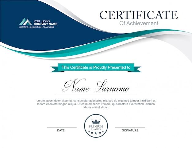 Modelo de certificado de vetor