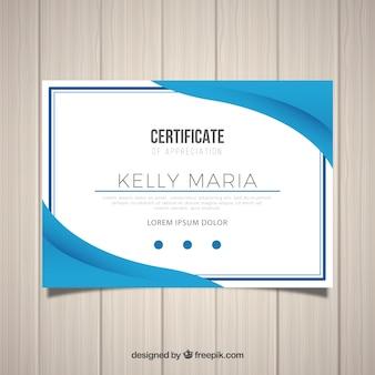 Modelo de certificado decorativo