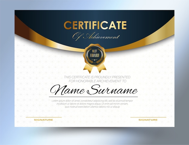 Modelo de certificado design a4 tamanho