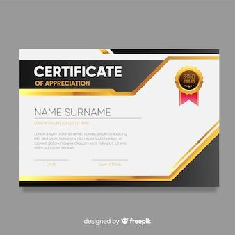 Modelo de certificado em design moderno