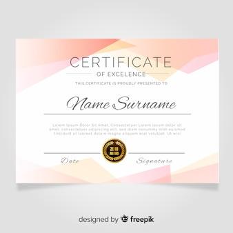 Modelo de certificado em estilo simples