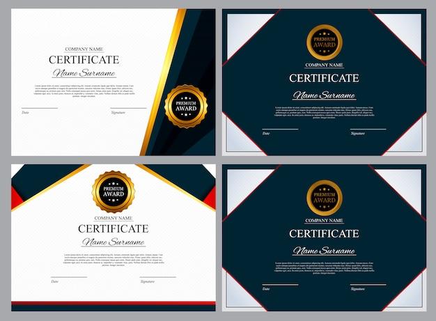 Modelo de certificado fundo. prêmio diploma design em branco. ilustração