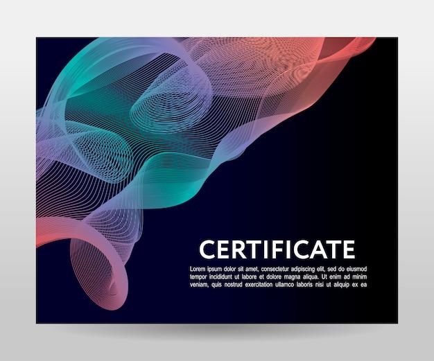 Modelo de certificado futurista
