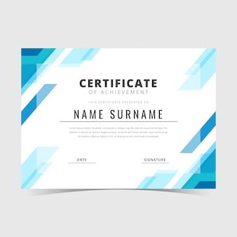 Modelo de certificado geométrico