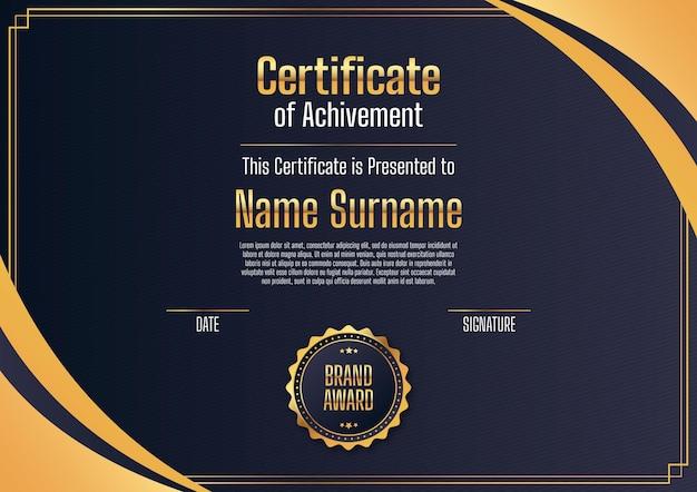 Modelo de certificado moderno e elegante