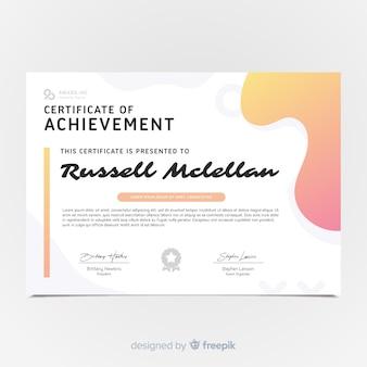 Modelo de certificado moderno em estilo abstrato