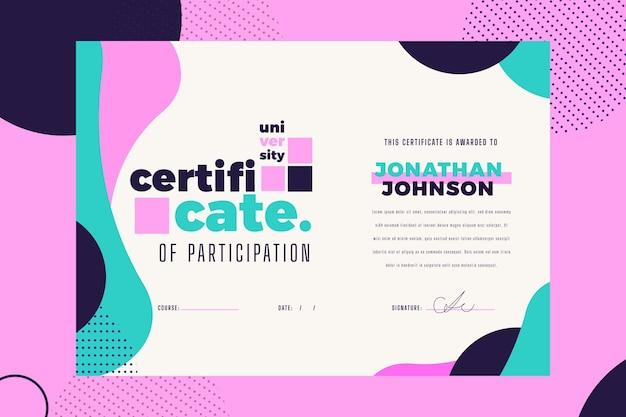 Modelo de certificado moderno
