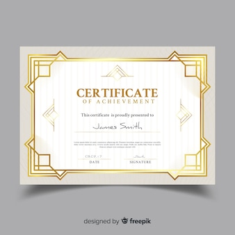Modelo de certificado ornamental elegante