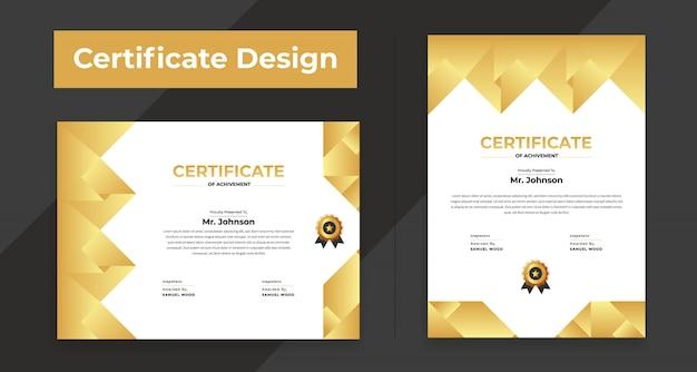Modelo de certificado plana moderna