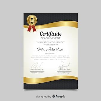 Modelo de certificado plana