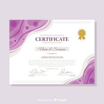 Modelo de certificado plano decorativo