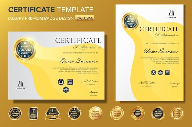 Modelo de certificado profissional bakcground luxo vector