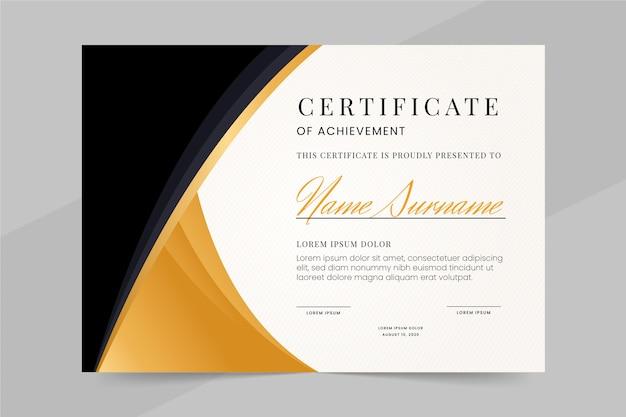 Modelo de certificado profissional
