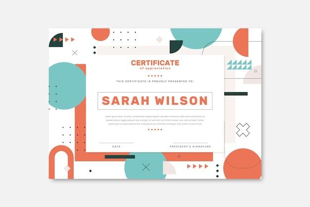Modelo de certificado simples e moderno
