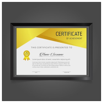 Modelo de certificado vetorial