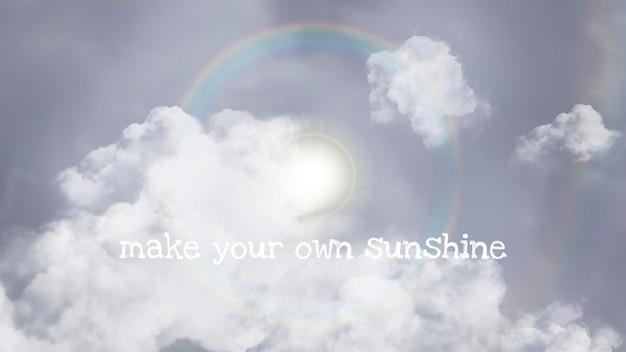 Modelo de céu de vetor de halo do sol para banner de blog