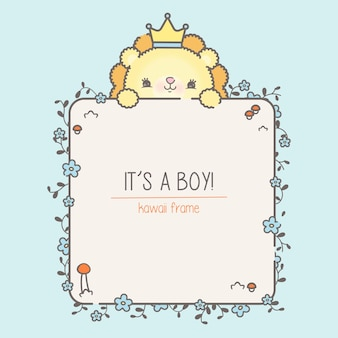 Modelo de chá de bebê para menino premium
