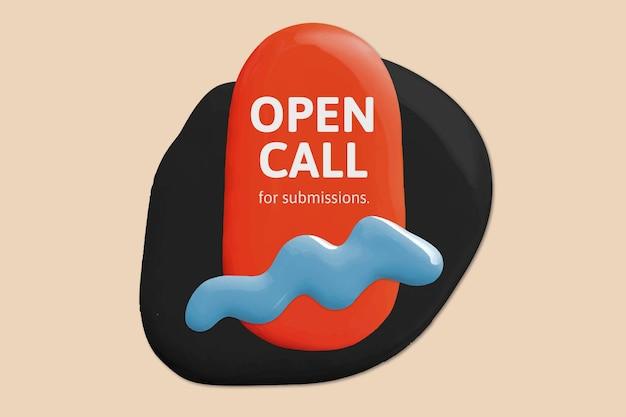 Modelo de chamada aberta de artista vetor cor pintura abstrata banner de anúncio