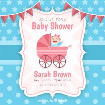 Modelo de chuveiro de bebê adorável
