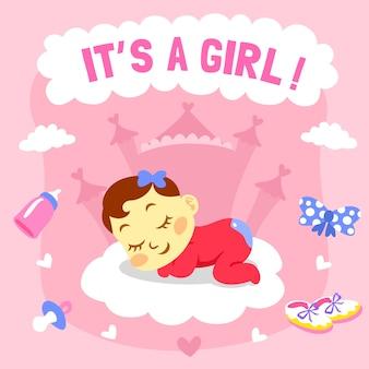 Modelo de chuveiro de bebê para menina