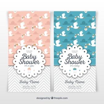 Modelo de chuveiro para bebés