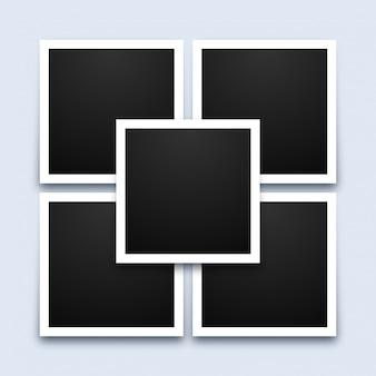 Modelo de colagem de molduras de fotos