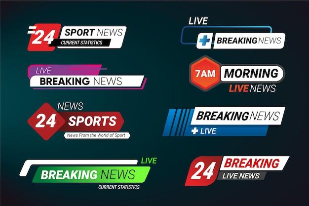 Modelo de coleção de banners de notícias de última hora