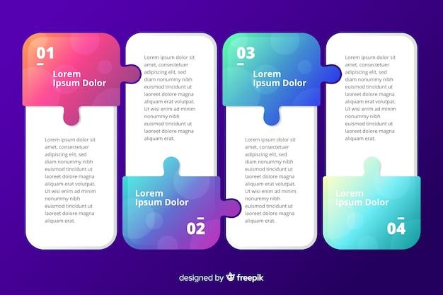 Modelo de coleção de etapas de marketing de melhoria