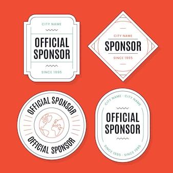 Modelo de coleção de etiqueta do patrocinador