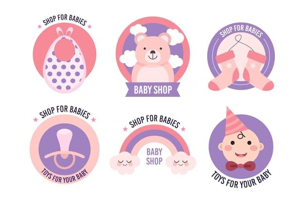 Modelo de coleção de logotipo de bebê