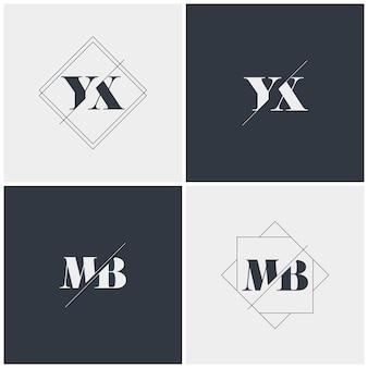 Modelo de coleção de logotipo de carta inicial