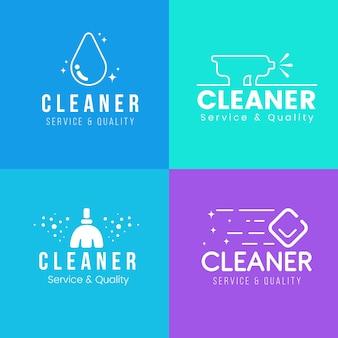 Modelo de coleção de logotipo de limpeza