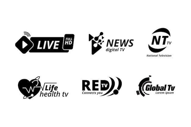 Modelo de coleção de logotipo de notícias