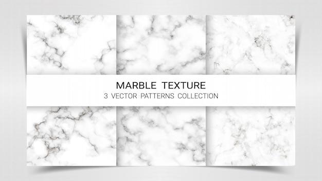 Modelo de coleção de padrões de conjunto de mármore premium.