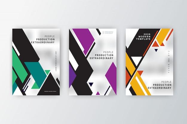 Modelo de coleção de panfleto 2020