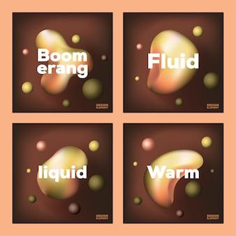 Modelo de coleção de vetores de elementos fluidos