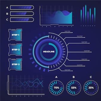Modelo de coleção futurista infográfico