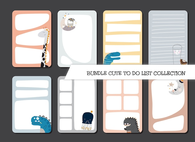 Modelo de coleção para fazer lista de conjunto de design plano