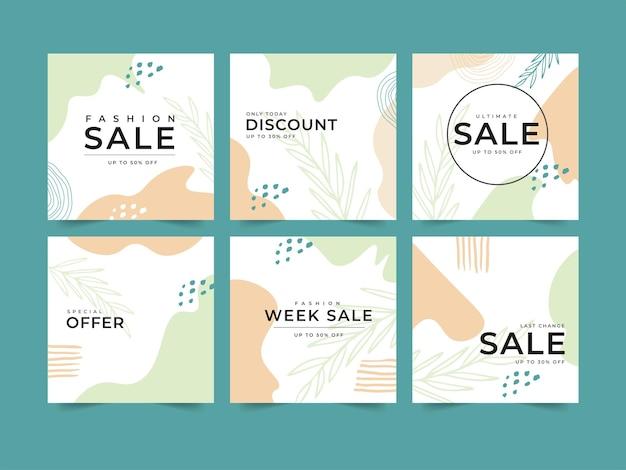 Modelo de coleção promoção venda para postagem em mídia social