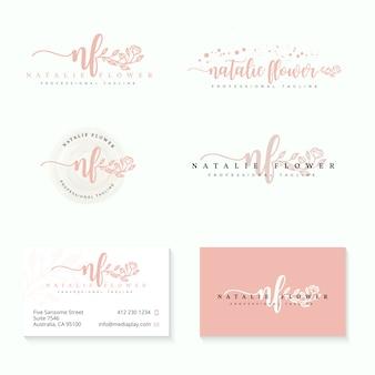 Modelo de coleções de logotipos femininos