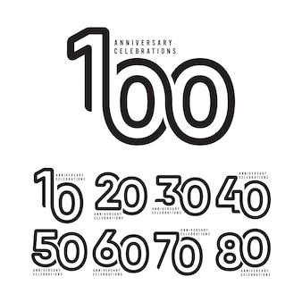 Modelo de comemoração de aniversário de 100 anos