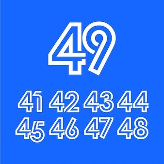 Modelo de comemoração de aniversário de 49 anos