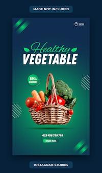 Modelo de comida vegetal para histórias no instagram