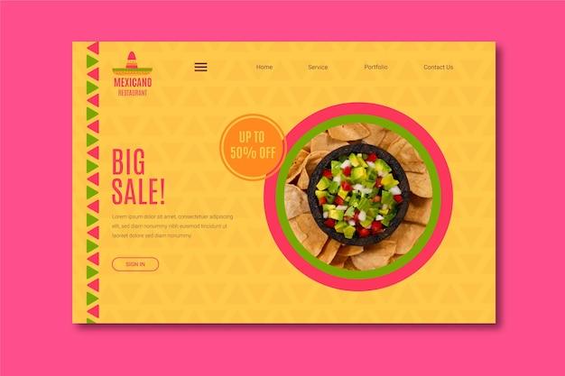 Modelo de comprovante de restaurante mexicano