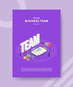 Modelo de conceito de equipe de negócios.