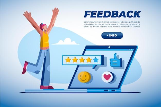 Modelo de conceito de feedback