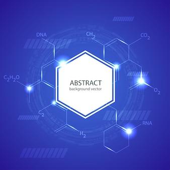 Modelo de conceito de fundo abstrato moléculas médicas design