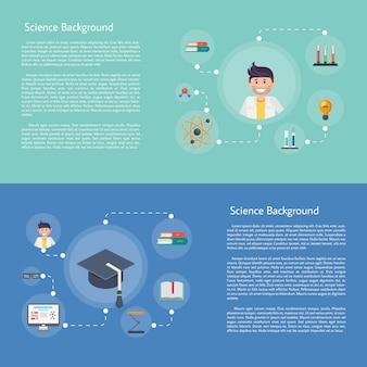 Modelo de conceito de infografia de educação