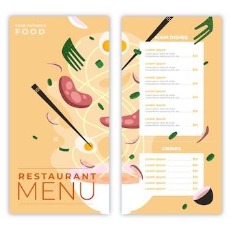 Modelo de conceito de menu