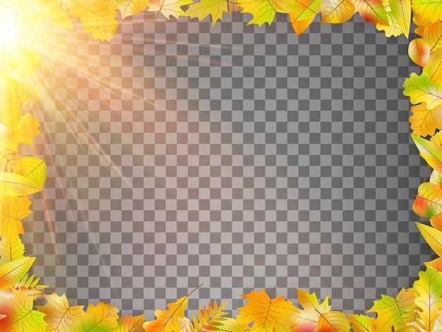 Modelo de conceito de outono com espaço de cópia.